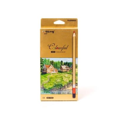 Карандаши 12цв Живая природа-1, деревянные, шестигранные, заточенные, картон. упак. , европодвес