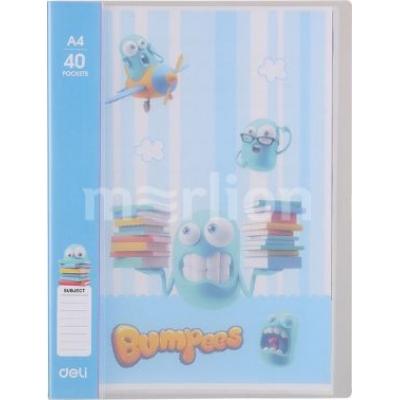 Папка 40 файлов Deli Bumpees EZ55202 A4 ассорти