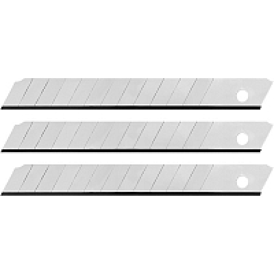 Лезвия для канцелярских ножей 9мм (10шт/уп)