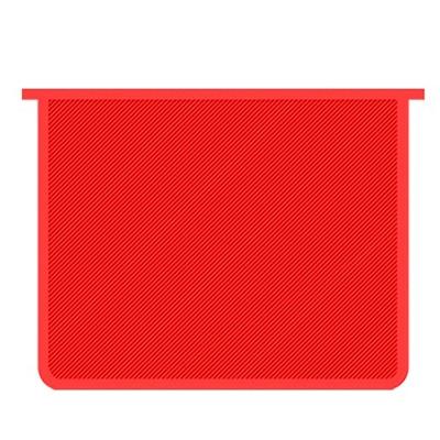 Папка А5 молния сверху красная, пластик