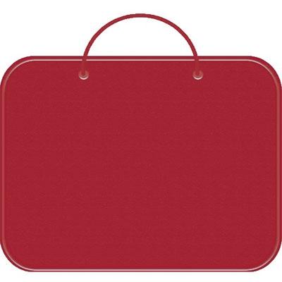 Папка менеджера А4 красная, молния вокруг, ткань