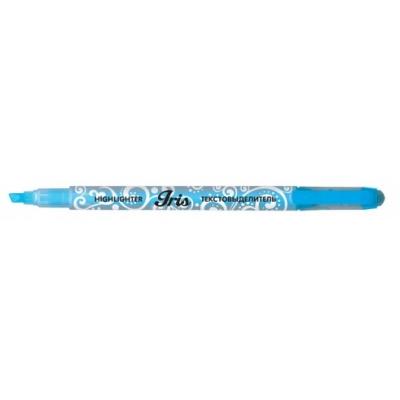 Текстовыделитель голубой IRIS, скошенный наконечник 1, 0-4, 0мм, колпачок с клипом