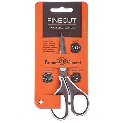 Ножницы 130мм Finecut, металлические c тефлоновым покрытием, эргономичные ручки, с резиновыми вставк