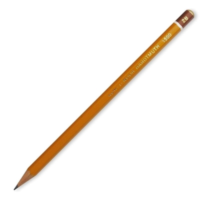 Карандаш ч/г 2B шестигранный, деревянный, цвет корпуса - желтый, заточенный, картонная упаковка