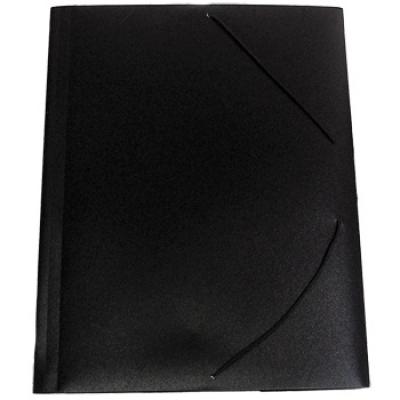 Папка A4 с резинкой непрозрачная черная 0. 35 мм iOffice