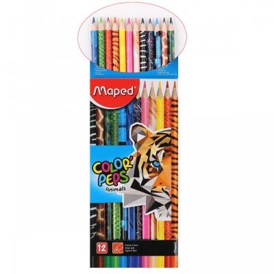 Карандаши 12цв Color\'peps декоративные трехгранные европодвес