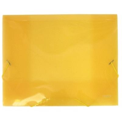 Папка A4 20 мм с резинкой желтая полупрозрачная 0. 70 мм Proff. Next