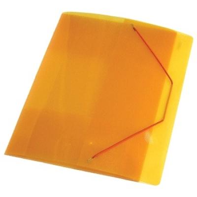 Папка A4 40 мм с резинкой желтая полупрозрачная 0. 70 мм Proff. Next