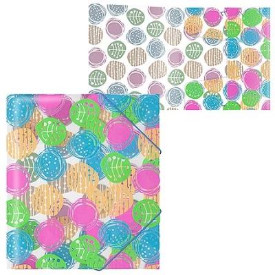 Папка на резинках А5+ 0, 55мм, Buttons разноцветная, пластик, текстура поверхности- песок, полупрозра