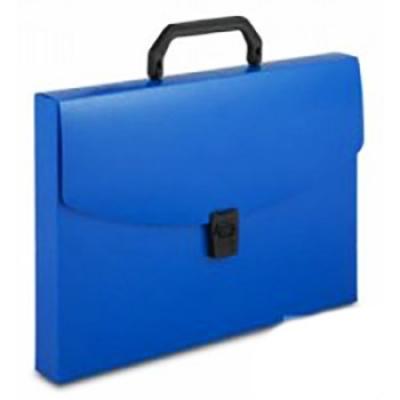 Папка-портфель А4 1 отделение синий, пластик 0, 7мм