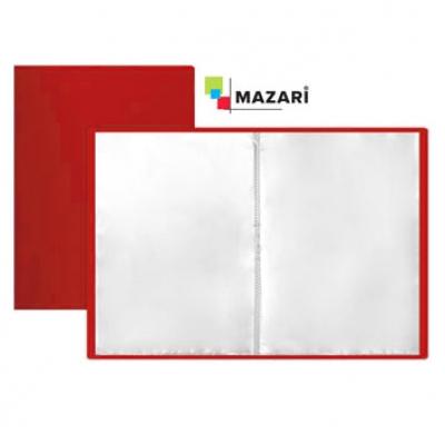 Папка 10 файлов А4 500мкм красная