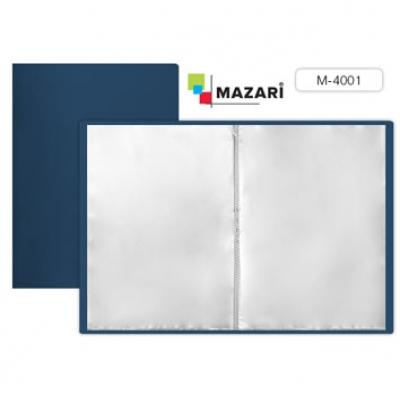 Папка 10 файлов А4 500мкм синяя