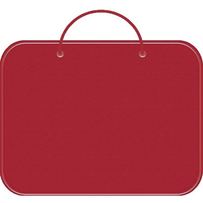 Папка менеджера А3 красная, молния вокруг, ткань