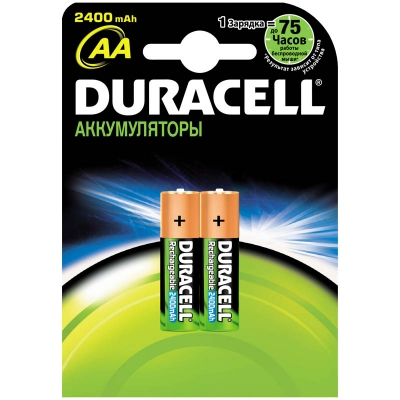 Аккумулятор DURACELL AA 2400mAh 2BL