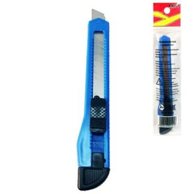 Нож канцелярский 9мм ассорти, индивидуальная упаковка, европодвес