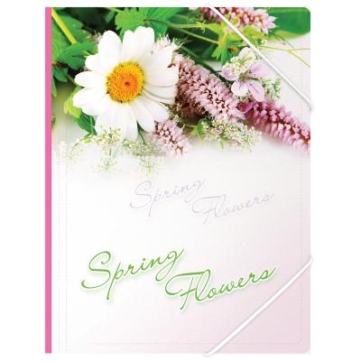 Папка на резинке А4 550мкм Spring Flowers