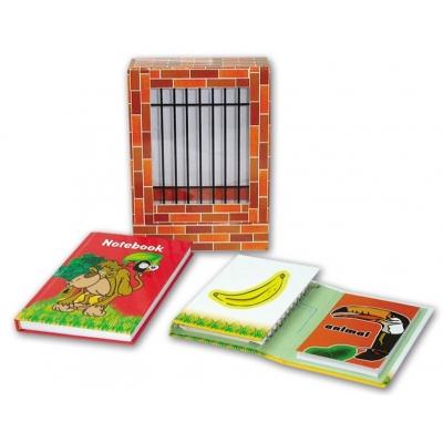 Подарочный канцелярский набор ЗООПАРК ВИД 2 (2 записные книжки, блок для записей)