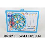 Доска для рисования магнитная (дартс, ручка + магниты+дротики) цвет в ассорт. арт. 6602