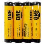 Батарейка солевая Smartbuy ONE R03/4S ААА (спайка 4шт) (цена за спайку)