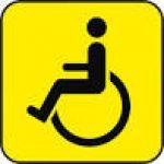 Наклейка Инвалид (145Х145)