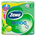 Бумага туалетная Zewa 2-слойная Зелёное яблоко 23м, зелёная, ароматизированная, со втулкой (упаков