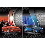 Бизнес-блокнот А5 64л. Клетка Лайт Car design (ассорти) , обложка - интегральная, матовый ламиниров