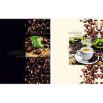 Бизнес-блокнот А5 80л. Клетка Кофейный аромат (ассорти) , обложка - матовый ламинированный картон 7БЦ