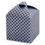 Коробка подарочная СЕРЕБРО НА СИНЕМ (11, 5x11, 5х11, 5, плотн. -300 г/м2, синий крафт, тисн. серебр. фол