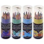 Карандаши 12цв Funcolor, 4 вида, трехгранные, укороченные, пластиковые, картонная туба