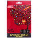 Карандаши 18цв чёрное дерево, европодвес