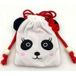 Кошелек-сумочка плюшевый Панда (белый) 130*160мм, на шнурке