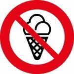 Наклейка Запрещено с мороженным (106х106) 9-82-0001