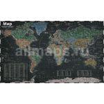 Карта интерьерная. Мир Политический М1: 26млн МЕЛОВАЯ (160х98) ламинированная