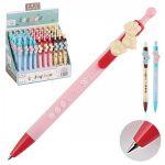 Ручка шариковая автоматическая детская синяя Лапки 4 вида