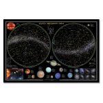 Карта наст. Звездное небо/планеты (58х38) бумага