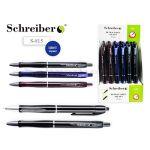 Ручка шариковая автоматическая синяя 0, 7мм рифленый держатель, чернила на масляной основе, металличе