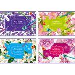Альбом для рисования А4 12л. Любимые цветы (ассорти) , скрепка, обложка- мелованный картон, блок- офс