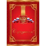 Папка адресная С праздником (гос символика)