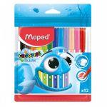 Фломастеры 12цв Color\'peps Ocean смываемые, вентилируемый колпачок, европодвес пластиковая уп