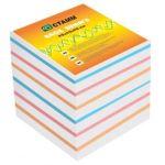 Блок бумаги для записей 9*9*9см 4цв Эконом, 65г/м2