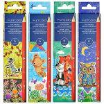 Карандаши 6цв Funcolor, трехгранные, пластиковые, картонная упаковка, европодвес, 4 вида