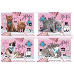 Альбом для рисования А4 16л. Little kittens (ассорти) , на скобе, обложка- мелованный картон, блок- о