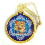 Декоративный магнит Обезьянкиарт. 38384 (5, 4*6см, из агломеррироанного феррита с подвесом)