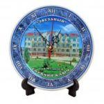 Часы сувенирные керамическая тарелка Ростов-на-Дону 20 см