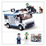 Конструктор пластиковый Полиция Погоня на бронеавтобусе (117 деталей, 3 фигурки)