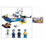 Конструктор пластиковый Полиция Полицейский катер (347 деталей, 4 фигурки)