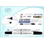 Маркер для CD чёрный, 2-х сторонний, ультратонкий наконечник - 0, 44мм и стреловидный наконечник - 2