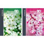 Бизнес-блокнот А5 80л. Весенний цветок (ассорти) , клетка, обложка - матовый ламинированный картон, б