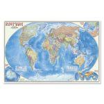 Карта наст. Мир Политический М1: 25 млн (124х80) ламинированная