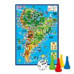 Игра-ходилка с фишками. Вокруг света. Южная Америка. 59, 5*42 см